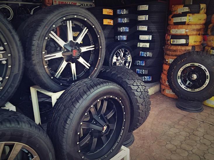 black car tires photo