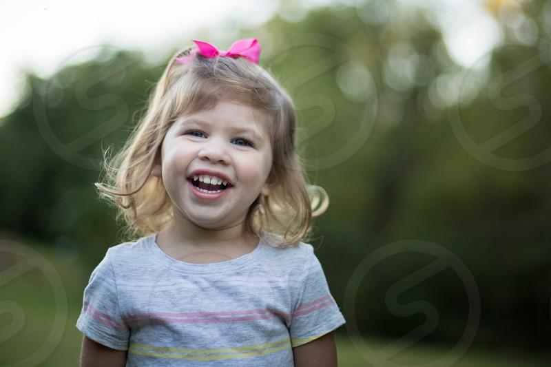 Toddler Girl Smiling photo