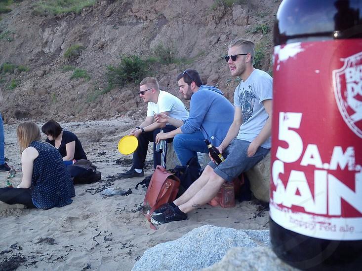 Beach. Beers. Nothing finer :) photo