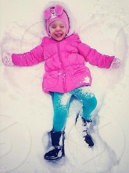 Making snow angels  photo