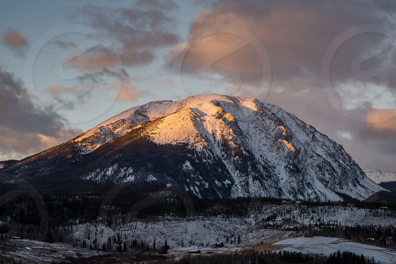 Sunrise on Colorado's Gore Range. photo