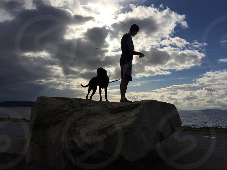 Running with my dog photo