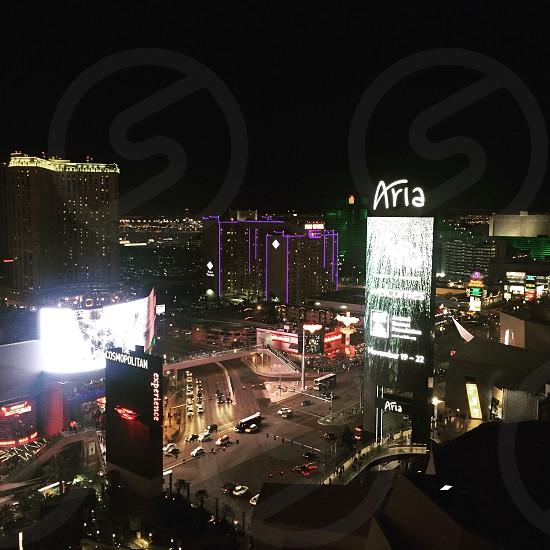 Las Vegas NV. The strip excitement electric lights night amuse wondrous. photo
