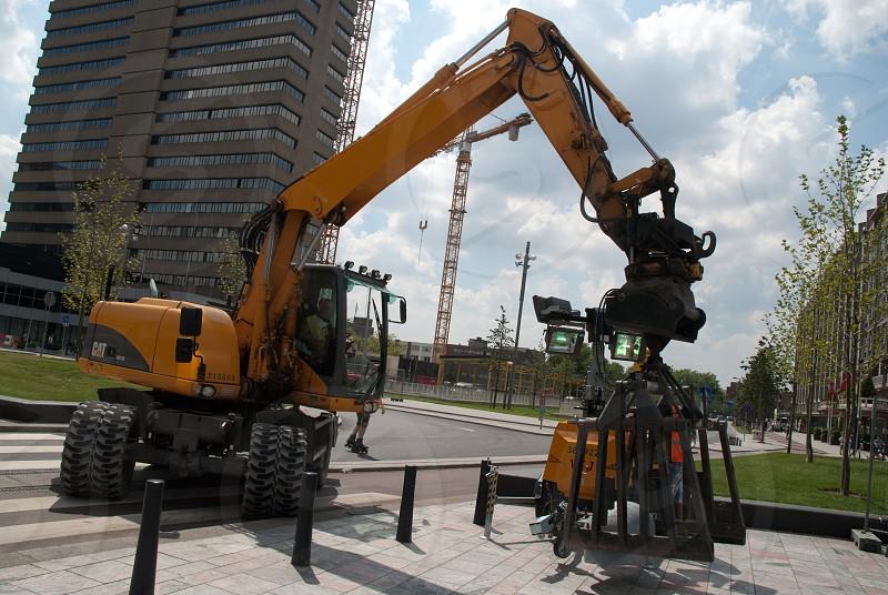Work Machine Street Fotographareaview photo