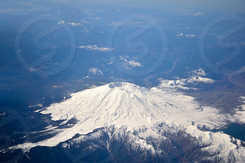 Mt. St. Helens from up above photo