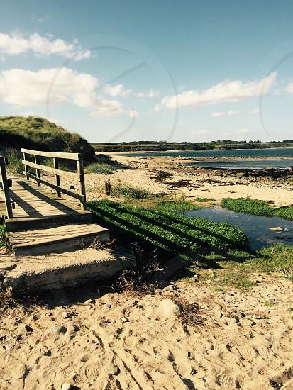 """""""The Thinking Bridge"""" Howdiemont Sands Northumberland Coastal Path UK photo"""