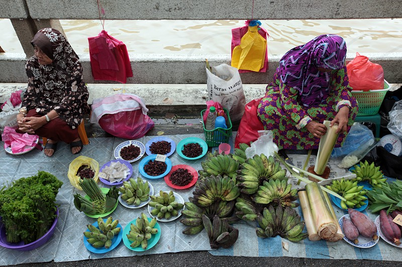 fruits and fegetable at the market in the city of Bandar seri Begawan in the country of Brunei Darussalam on Borneo in Southeastasia. photo