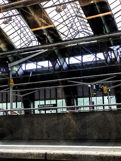 Train station station railway station  Berlin  travel  architecture  photo