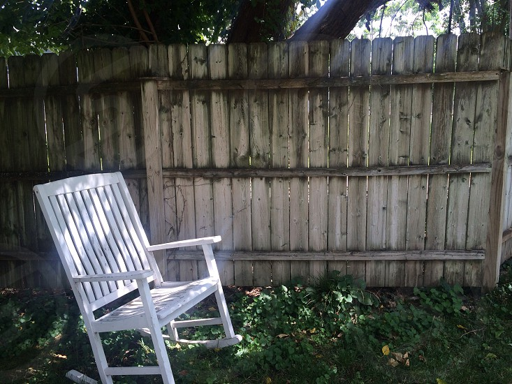 Fence rocking chair old pattern  photo