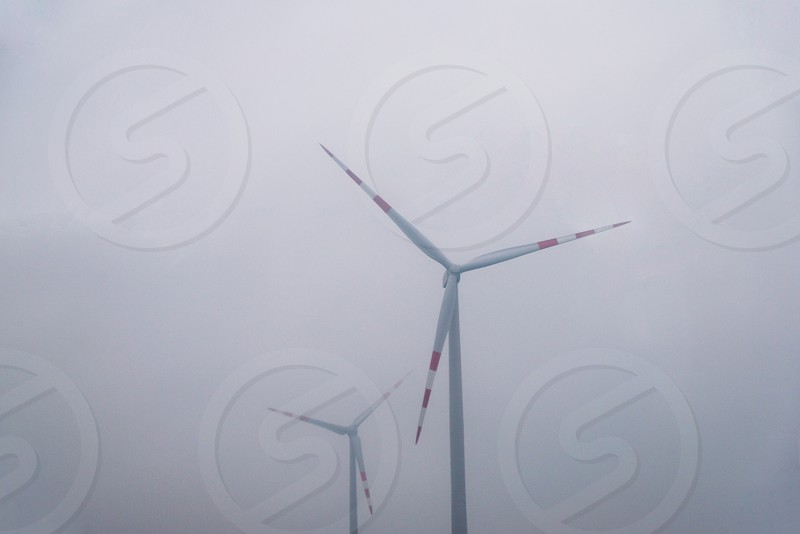 Eco power wind turbines environment alternative technologi photo