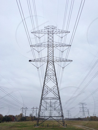 view of electric tower photo