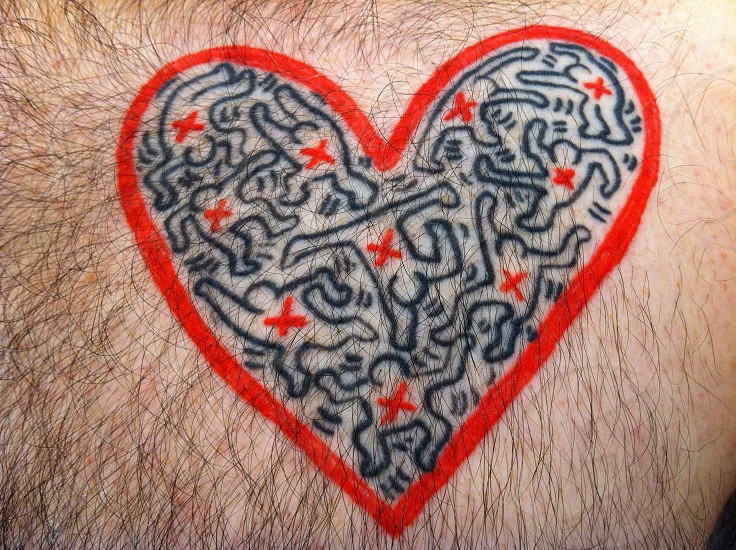 Keith Haring tattoo photo