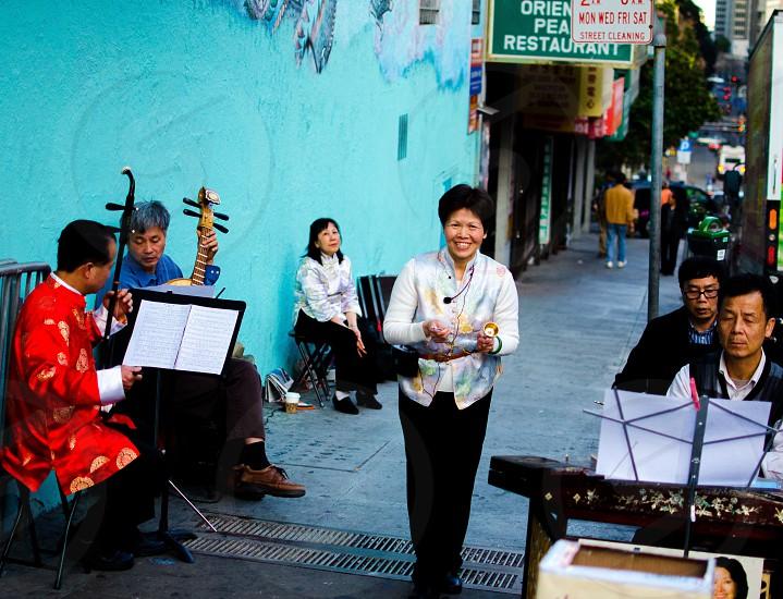Street musician Chinatown San Francisco  photo
