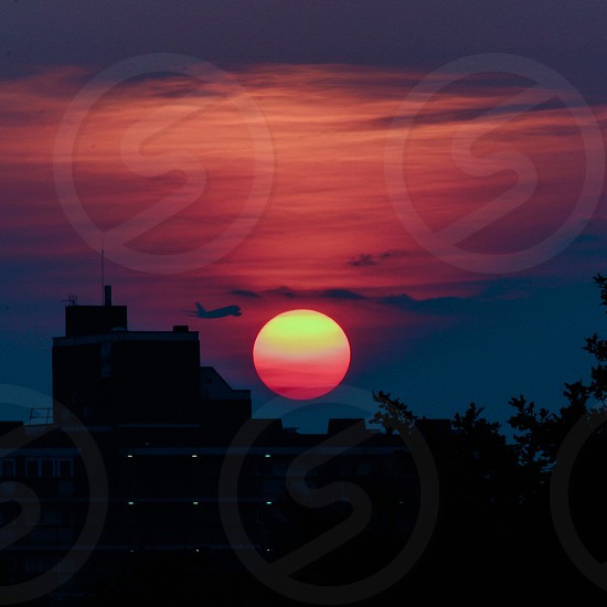 Sunset in West London.  photo