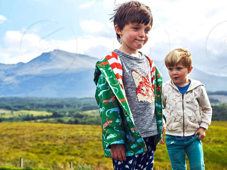 Kids children boys travel family vacation adventure fashion kids fashion family travel vacation ideas Scotland Europe isle of Skye  photo