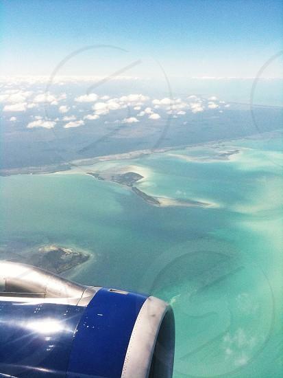 blue jet plane photo