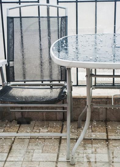 rain outside photo