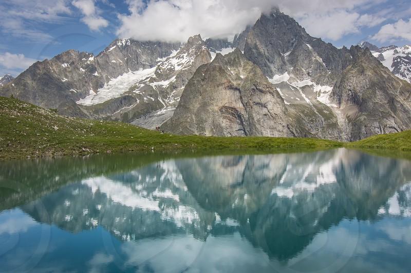 Glacial lake. photo