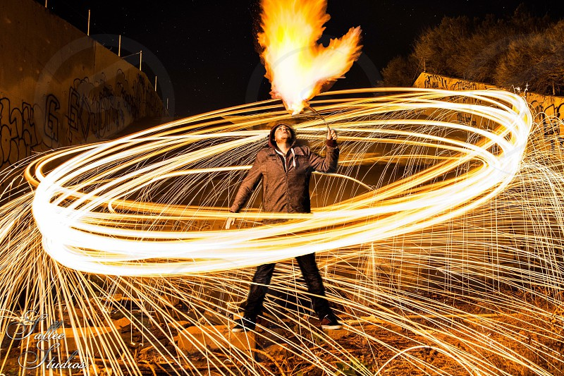 Fire breathing photo