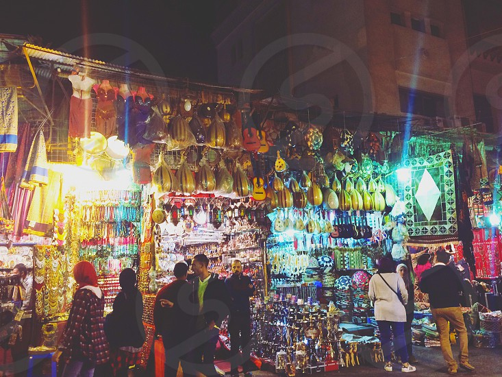 nightlife at khan el khalili while shopping is perfect  photo