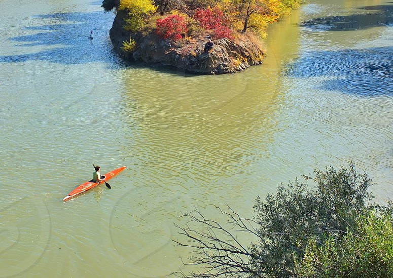 person in kayak photo