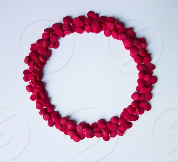 pink beaded bracelet photo
