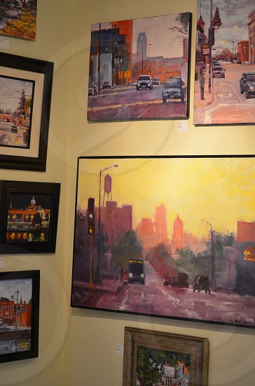 pop up gallery featuring urban landscapes in oil photo