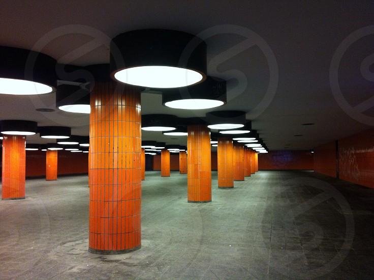 Orange train station germany photo