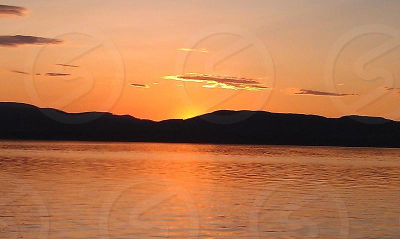 Sunset on Lake Champlain photo