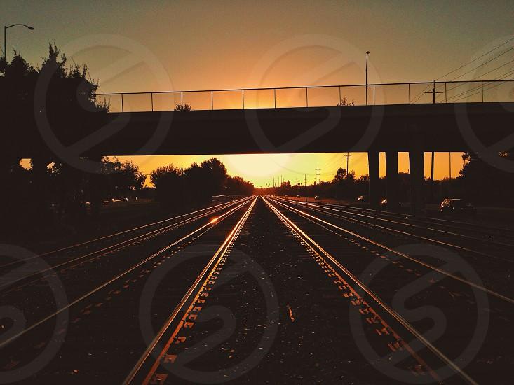 bridge silhouette  photo