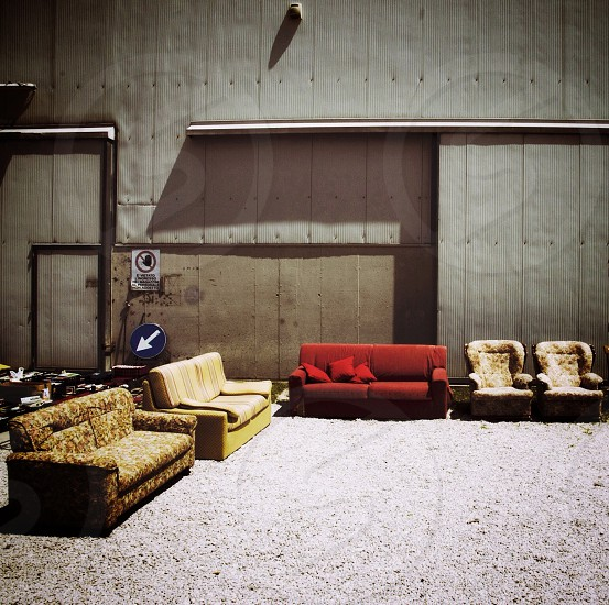 red sofa photo