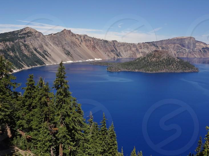 Crater Lake in Klamath County Oregon photo