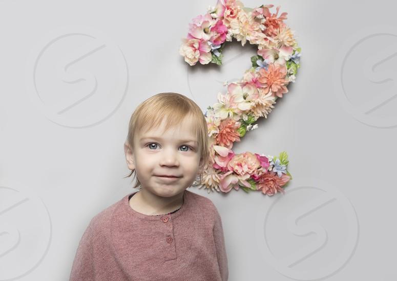 Coral girl toddler photo