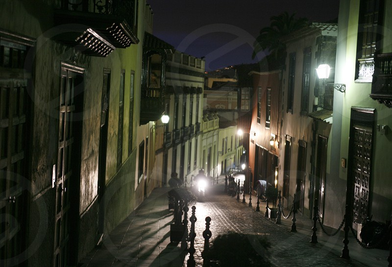 the old Town of La Orotava on the Island of Tenerife on the Islands of Canary Islands of Spain in the Atlantic.   photo