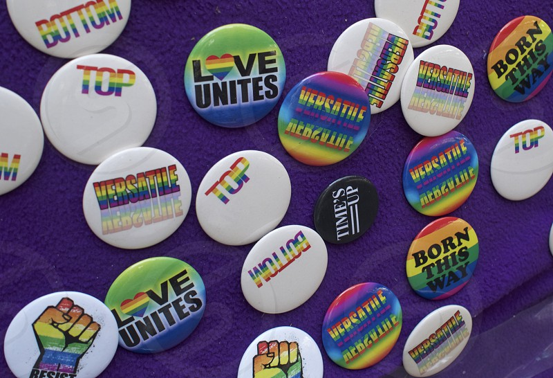 Rainbow buttons from NYC Pride        photo