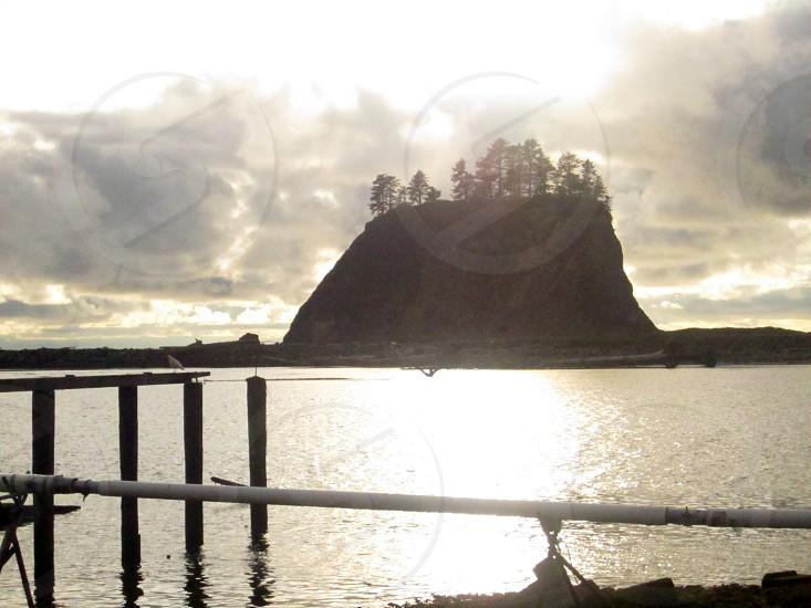 Beautiful Bluffs off the coast of La Push WA photo