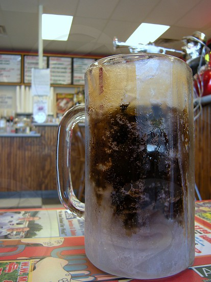 Frosted mug of root beer photo