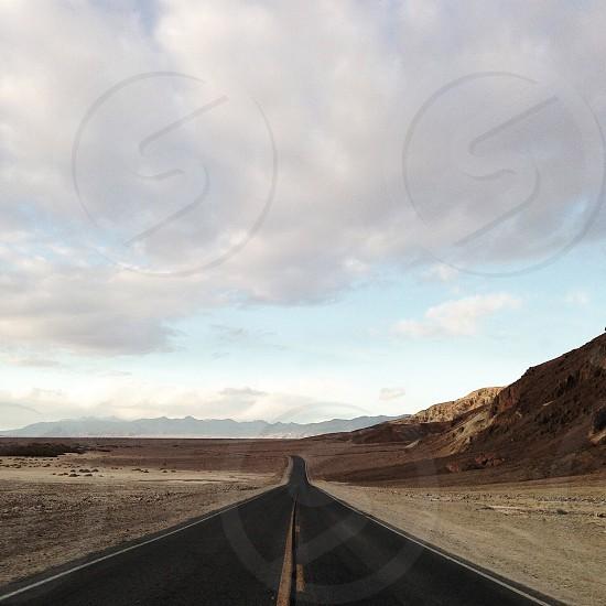 highway through dessert photo