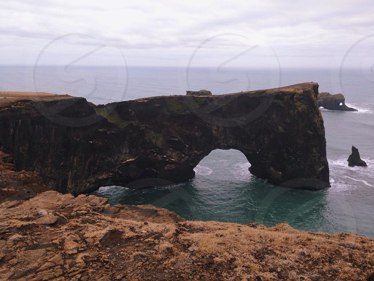 Iceland Scenery Rock Formation Ocean Water Nature photo