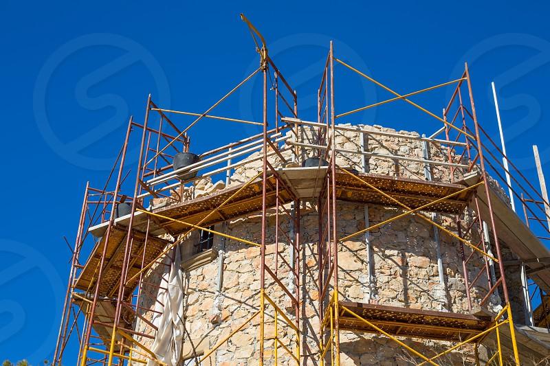 Javea Denia Mediterranean tower masonry improvement construction in Spain photo