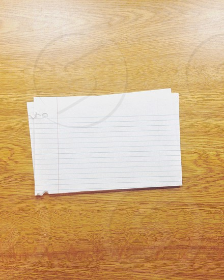 white index card photo