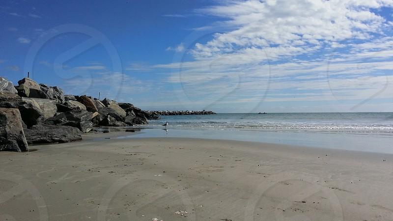 Rocky shore beach photo
