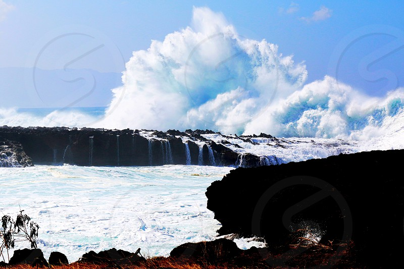 """Waves of the Century"" at Shark's Cove Oahu Hawaii. - January 2016 photo"