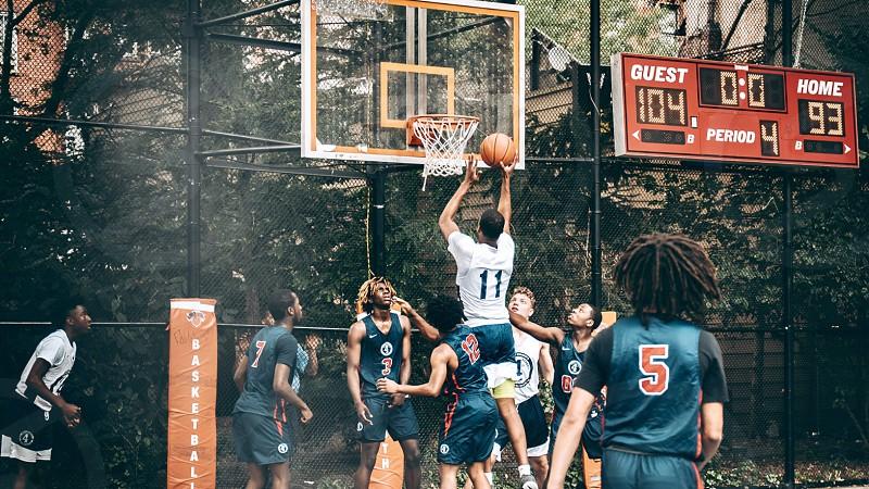 Regular basket game in New York City  photo