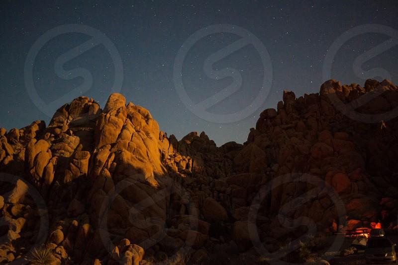 brown rocks photo