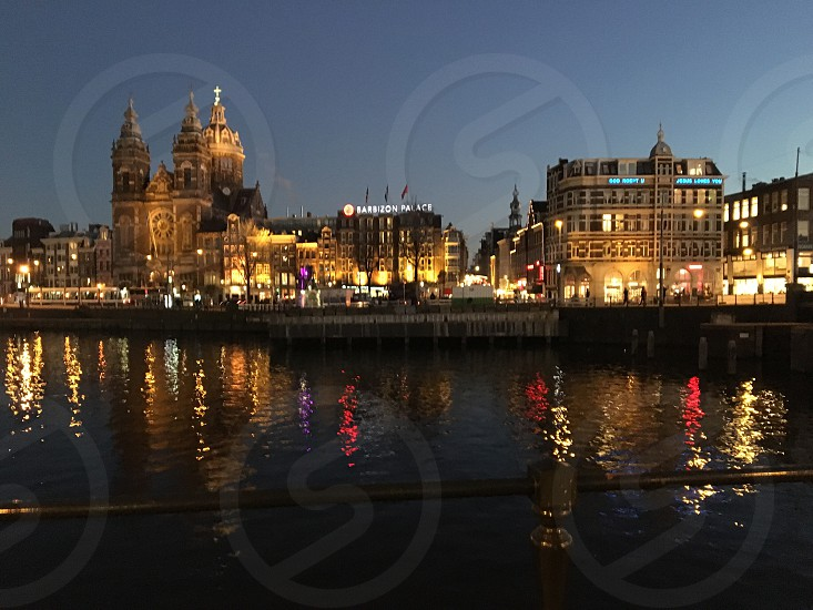 Amsterdam at night  photo