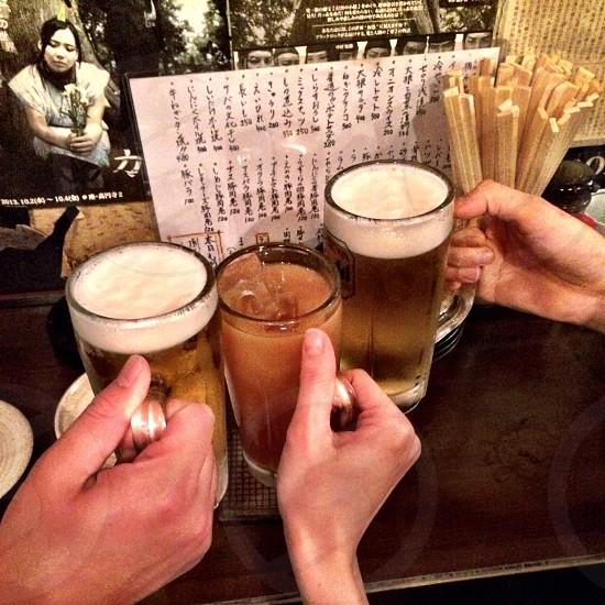 3 glass beer mug photo