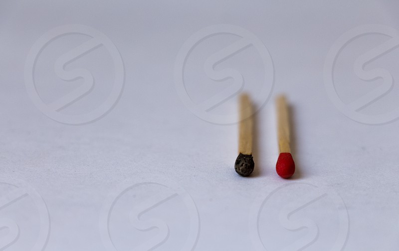 black and red match photo