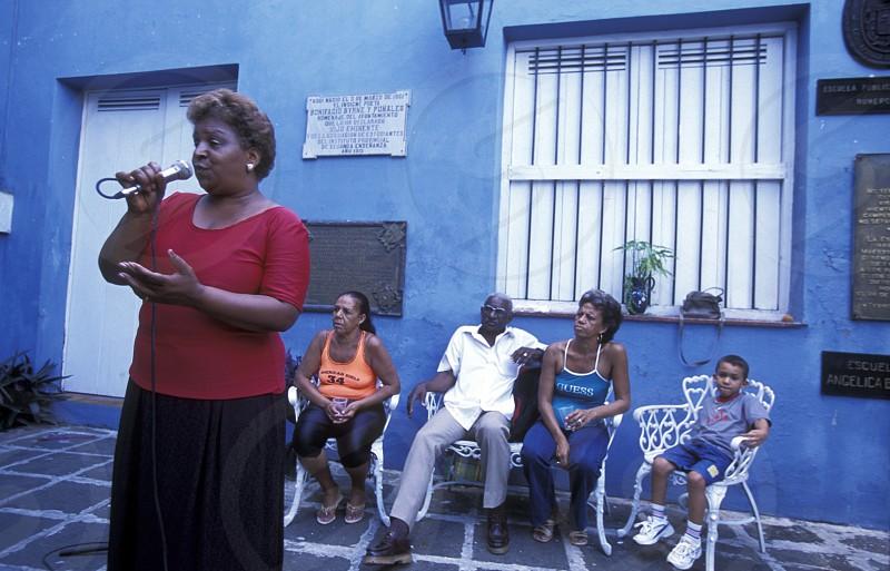 a casa del Musica in the city of Matanzas on Cuba in the caribbean sea. photo