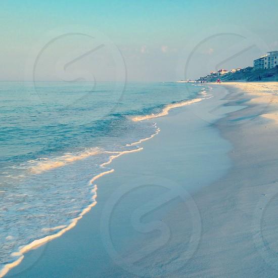 seashore and blue sky photo